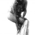 Digitalt Grafisk Arbeid av kunstner Fritz Helge Nyegaard - tittel: Etter badet