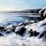 Digitalt Grafisk Arbeid av kunstner Fritz Helge Nyegaard - tittel: Fuglevik i vinterskrud