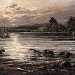 Digitalt Grafisk Arbeid av kunstner Fritz Helge Nyegaard - tittel: Lagunen