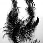 Digitalt Grafisk Arbeid av kunstner Fritz Helge Nyegaard - tittel: Madonna og Cardinalen