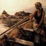 Digitalt Grafisk Arbeid av kunstner Fritz Helge Nyegaard - tittel: Mot stranden