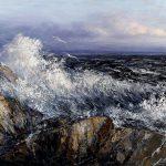 Digitalt Grafisk Arbeid av kunstner Fritz Helge Nyegaard - tittel: Opprørt sjø