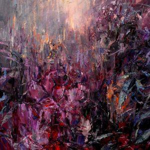 Digitalt Grafisk Arbeid av kunstner Fritz Helge Nyegaard - tittel: Purpurmorgen