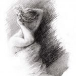 Digitalt Grafisk Arbeid av kunstner Fritz Helge Nyegaard - tittel: Ung pike 3