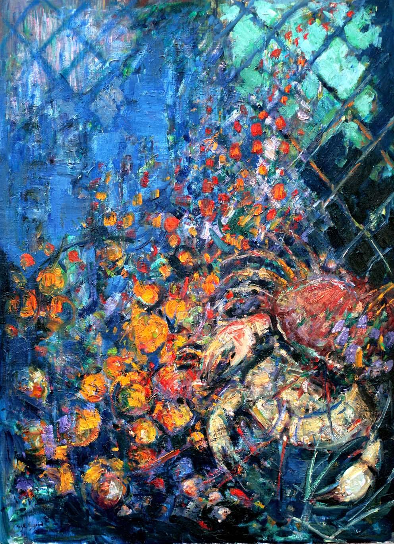 Digitalt Grafisk Arbeid av kunstner Fritz Helge Nyegaard - tittel: Crabstick