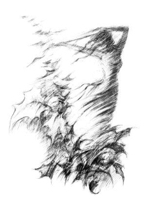 Digitalt Grafisk Arbeid av kunstner Fritz Helge Nyegaard - tittel: Danser med vinden 2