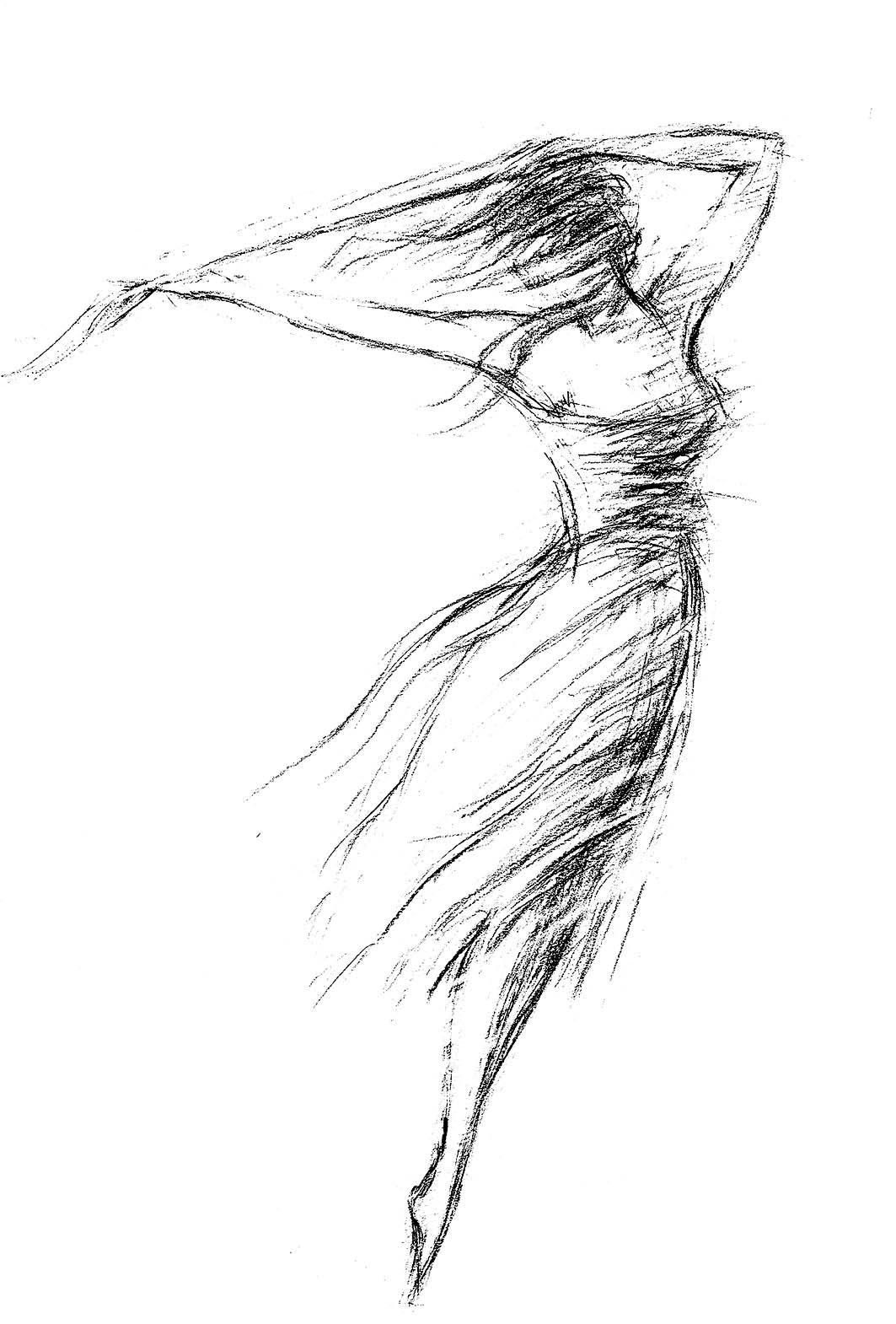 Digitalt Grafisk Arbeid av kunstner Fritz Helge Nyegaard - tittel: Danser med vinden 3
