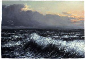Digitalt Grafisk Arbeid av kunstner Fritz Helge Nyegaard - tittel: Himmel hav og land