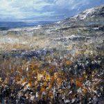 Digitalt Grafisk Arbeid av kunstner Fritz Helge Nyegaard - tittel: Hvite fjell
