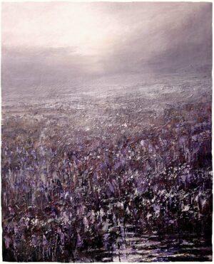 Digitalt Grafisk Arbeid av kunstner Fritz Helge Nyegaard - tittel: Lavendelmorgen