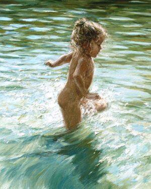Digitalt Grafisk Arbeid av kunstner Fritz Helge Nyegaard - tittel: Lili Fionas sommer