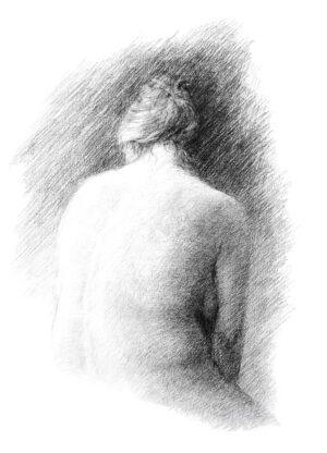 Digitalt Grafisk Arbeid av kunstner Fritz Helge Nyegaard - tittel: Moden kvinne
