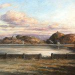 Digitalt Grafisk Arbeid av kunstner Fritz Helge Nyegaard - tittel: Solnedgang på Citadellet