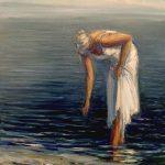 Digitalt Grafisk Arbeid av kunstner Fritz Helge Nyegaard - tittel: På stranden