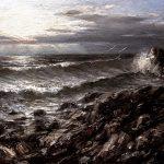 Digitalt Grafisk Arbeid av kunstner Fritz Helge Nyegaard - tittel: Kveld over Mølen