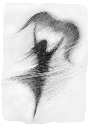 Digitalt Grafisk Arbeid av kunstner Fritz Helge Nyegaard - tittel: Svever