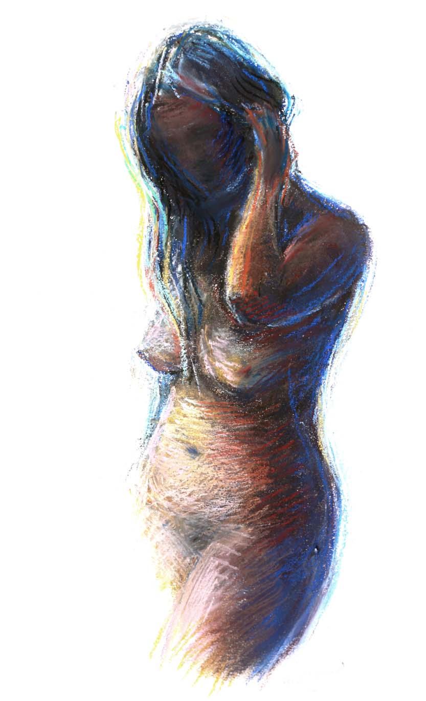 Digitalt Grafisk Arbeid av kunstner Fritz Helge Nyegaard - tittel: Ung pike 2