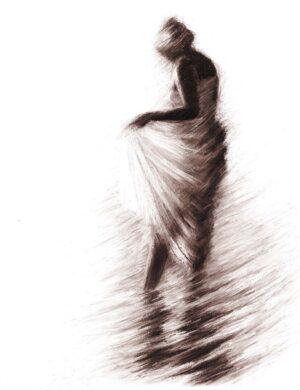 Digitalt Grafisk Arbeid av kunstner Fritz Helge Nyegaard - tittel: Vannspeil 2