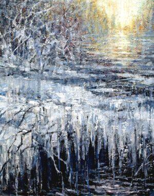 Digitalt Grafisk Arbeid av kunstner Fritz Helge Nyegaard - tittel: Vinterlys