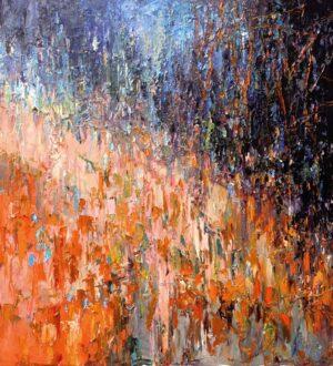 Digitalt Grafisk Arbeid av kunstner Fritz Helge Nyegaard - tittel: Gullregn