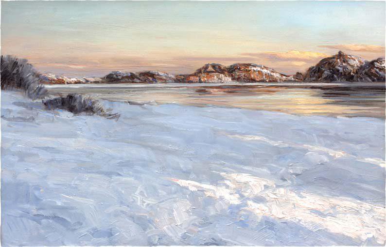 Digitalt Grafisk Arbeid av kunstner Fritz Helge Nyegaard - tittel: Citadellet i januar